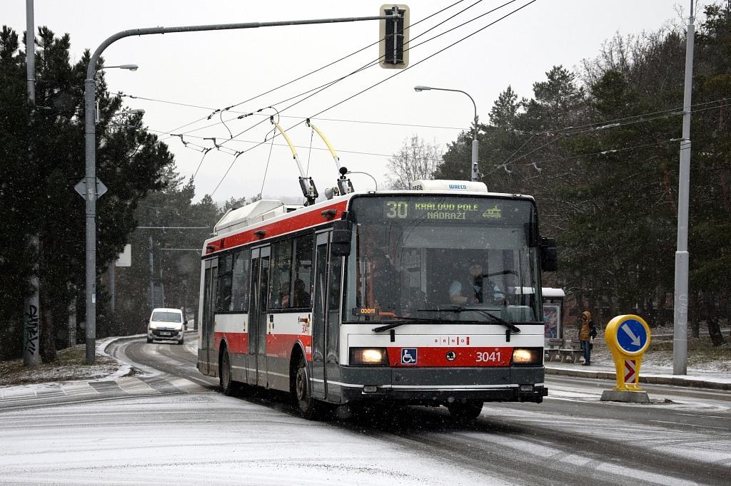 Fotogalerie » Škoda 21TrIGCT 3041 | Brno | Žabovřesky | Královopolská | Záhřebská