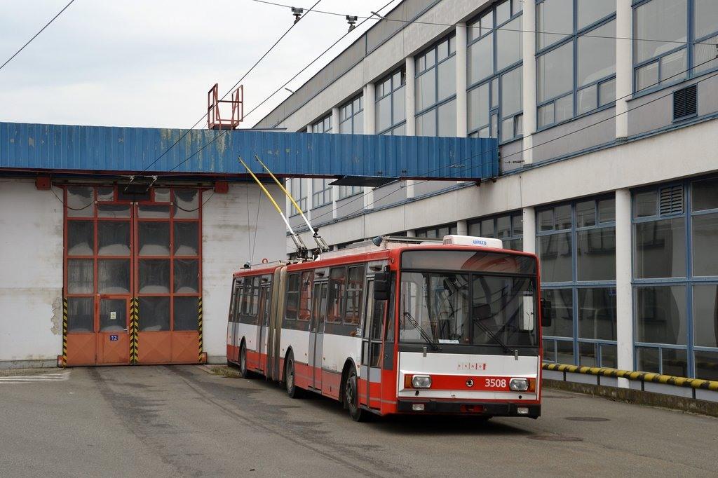 Fotogalerie » Škoda 15TrM 3508 | Brno | vozovna Komín