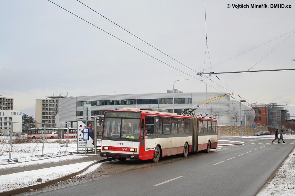 Fotogalerie » Škoda 15TrM 3504 | Brno | Bohunice | Netroufalky | Univerzitní kampus