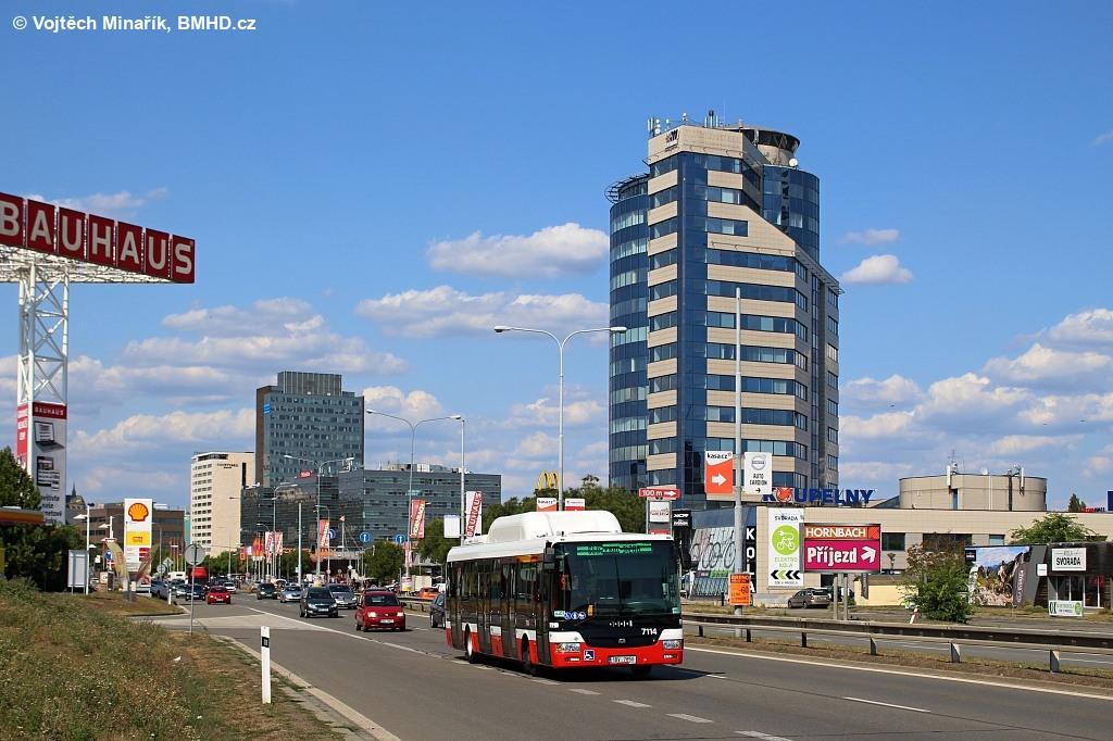 Fotogalerie » SOR NBG 12 1BV 7850 7114 | Brno | Štýřice | Heršpická