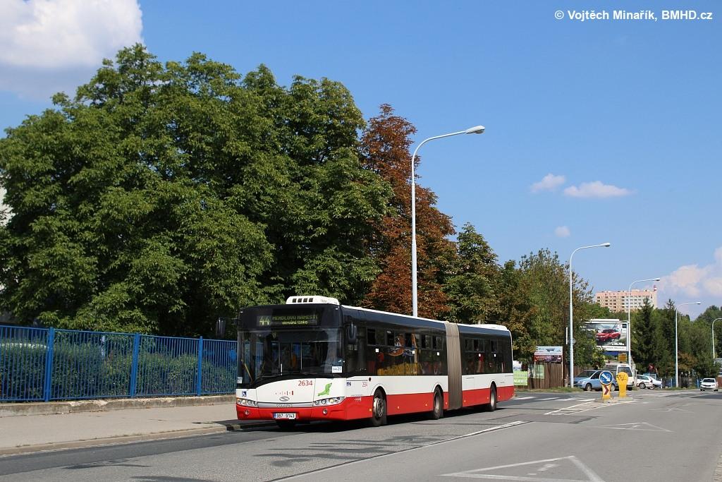 Fotogalerie » Solaris Urbino 18 III 9B7 9143 2634   Brno   Královo Pole   Křižíkova   Divišova Čtvrť