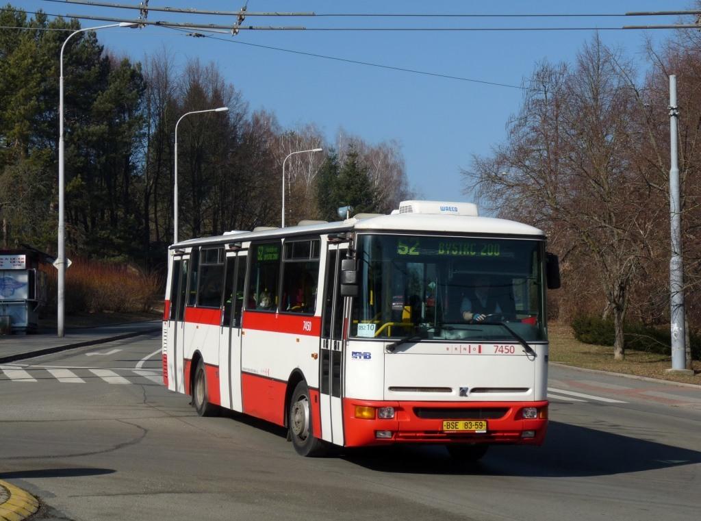 Fotogalerie » Karosa B931E.1707 BSE 83-59 7450 | Brno | Bystrc | Odbojářská