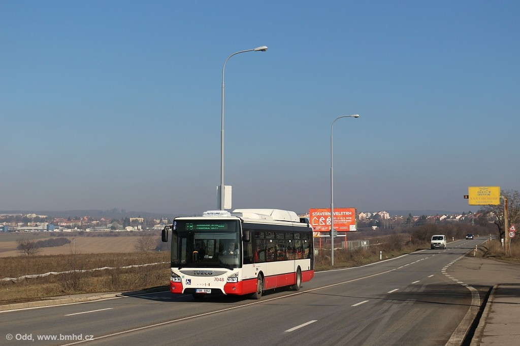Fotogalerie » Iveco Urbanway 12M CNG 1BB 6892 7048 | Brno | Slatina | Holzova