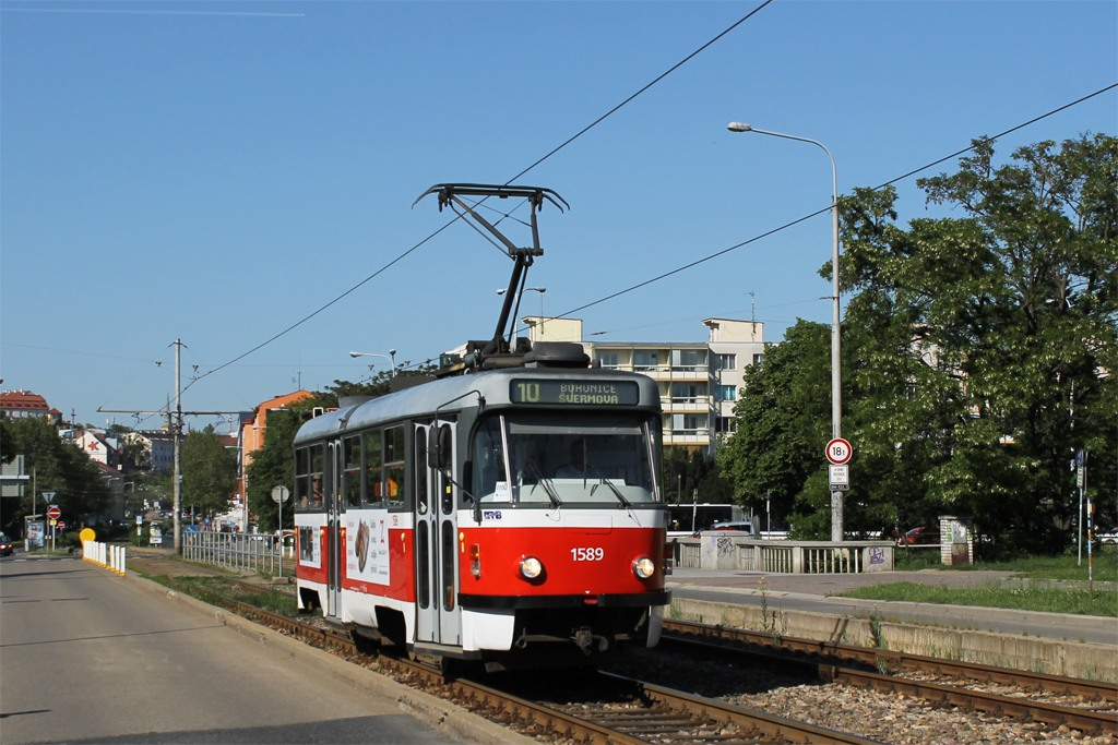 Fotogalerie » ČKD Tatra T3P 1589 | Brno | Štýřice | Renneská