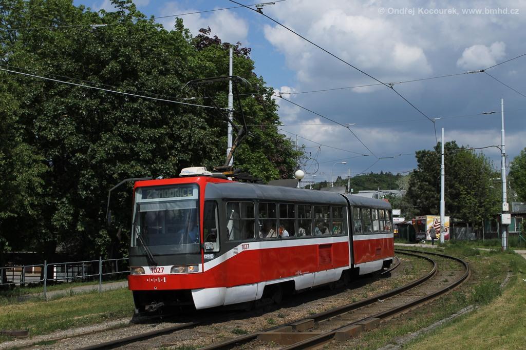 Fotogalerie » ČKD Tatra K2R03 1027 | Brno | Židenice | Bubeníčkova