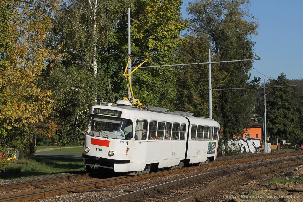 Fotogalerie » ČKD Tatra K2P 1118 | Brno | Bystrc | Obvodová