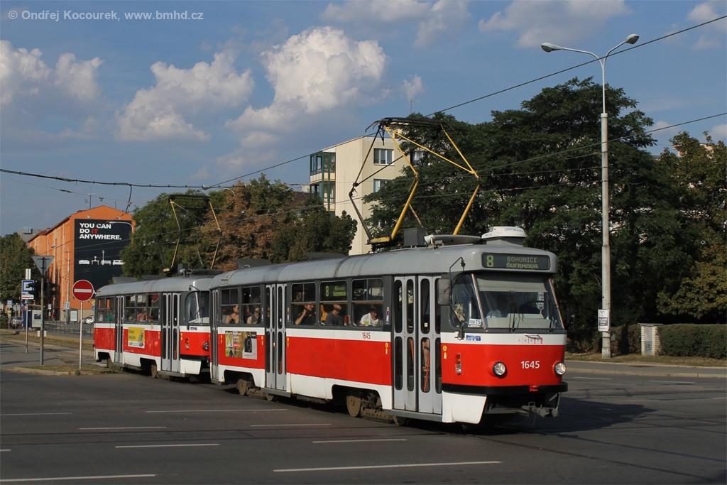 Fotogalerie » ČKD Tatra T3G 1645 | ČKD Tatra T3G 1646 | Brno | Štýřice | Renneská