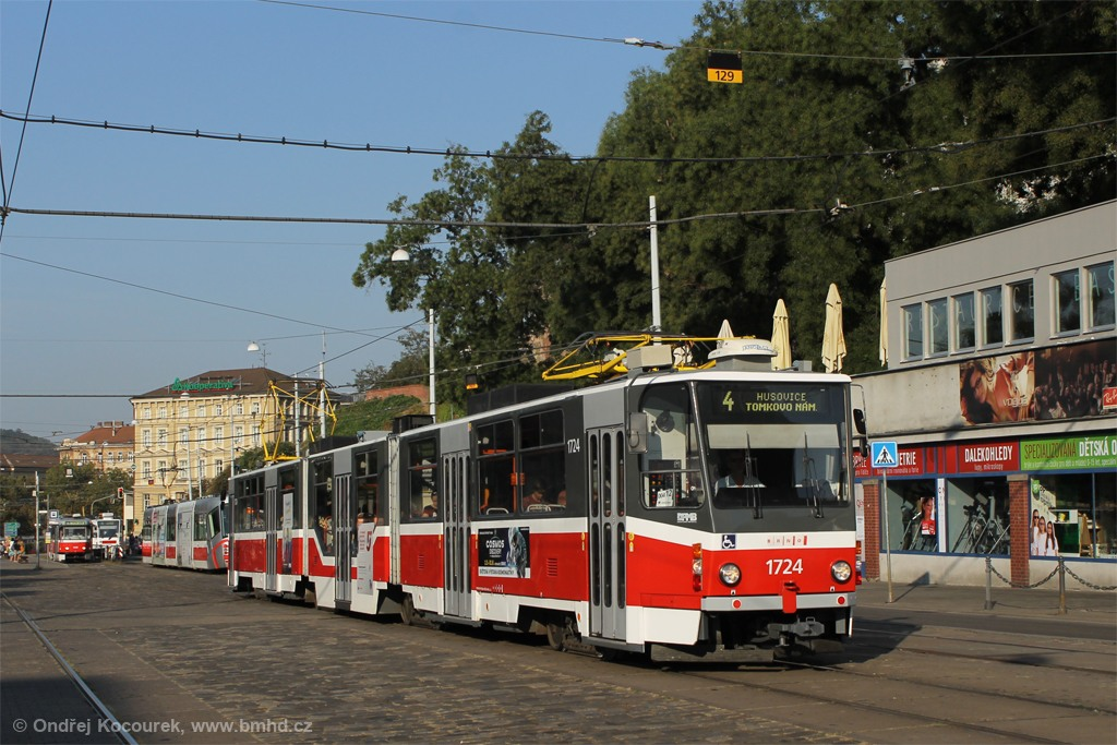 Fotogalerie » ČKD Tatra KT8D5R.N2 1724 | Brno | střed | Nádražní