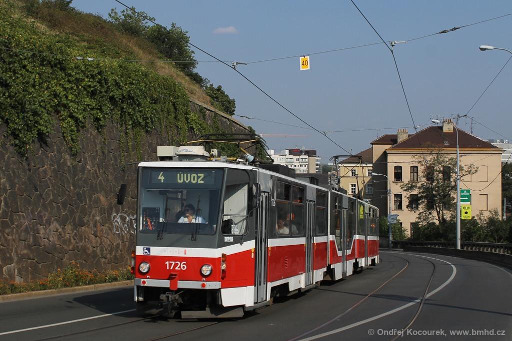 Fotogalerie » ČKD Tatra KT8D5R.N2 1726 | Brno | střed | Husova