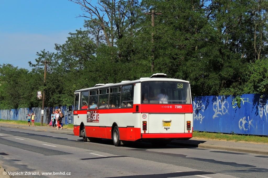 Fotogalerie » Karosa B732.1654.3 BSC 39-61 7389 | Brno | Líšeň | Křtinská | Malá Klajdovka