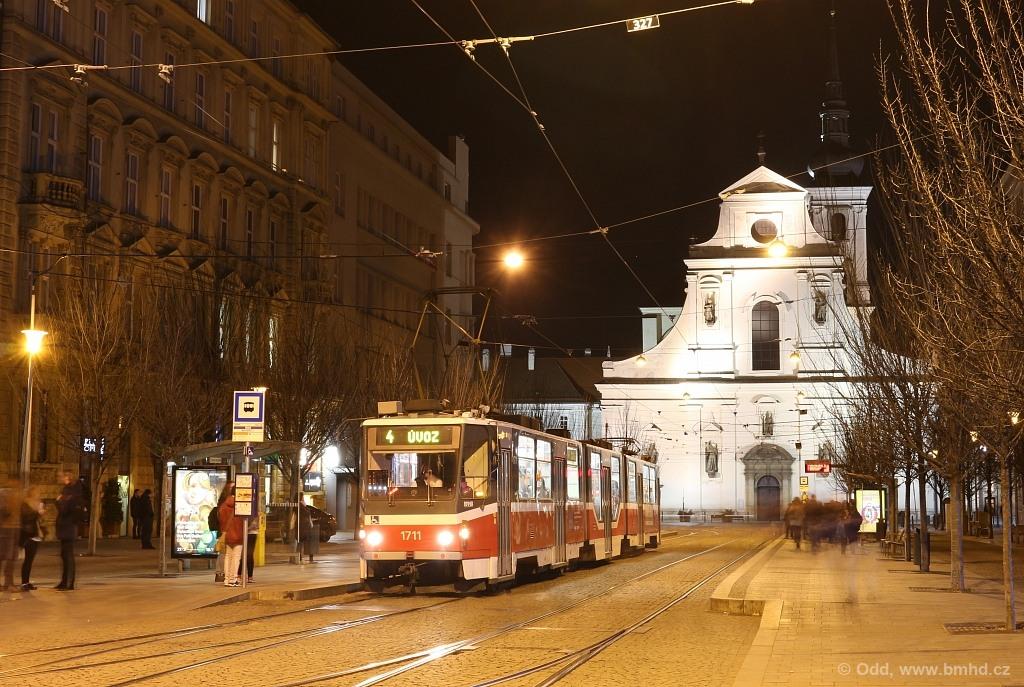 Fotogalerie » ČKD Tatra KT8D5R.N2 1711 | Brno | střed | Joštova | Česká