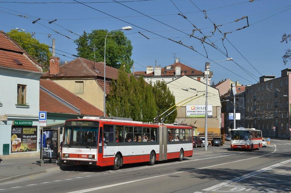Fotogalerie » Škoda 15TrM 3506 | Brno | Pisárky | Hlinky | Výstaviště, hlavní vstup