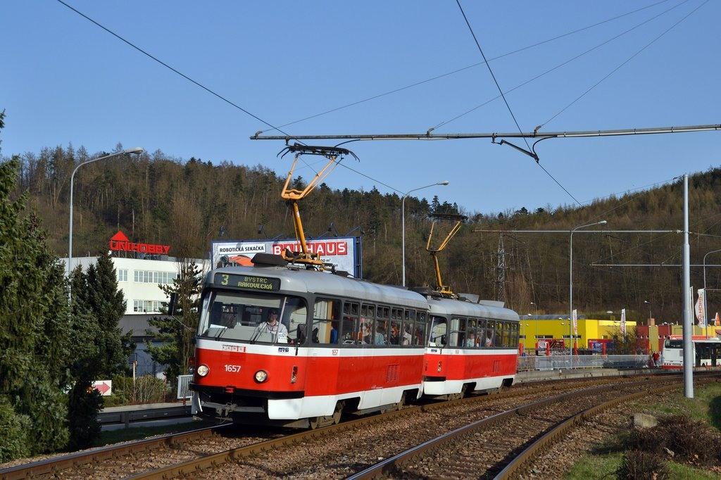Fotogalerie » Pragoimex T3R.PV 1657   Pragoimex T3R.PV 1658   Brno   Komín   Kníničská