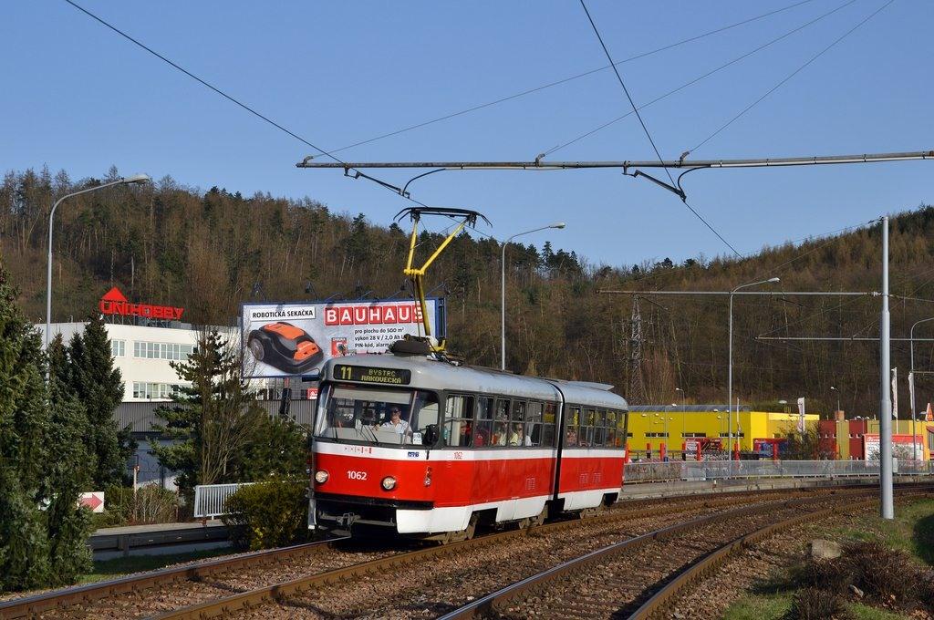 Fotogalerie » ČKD Tatra K2P 1062 | Brno | Komín | Kníničská