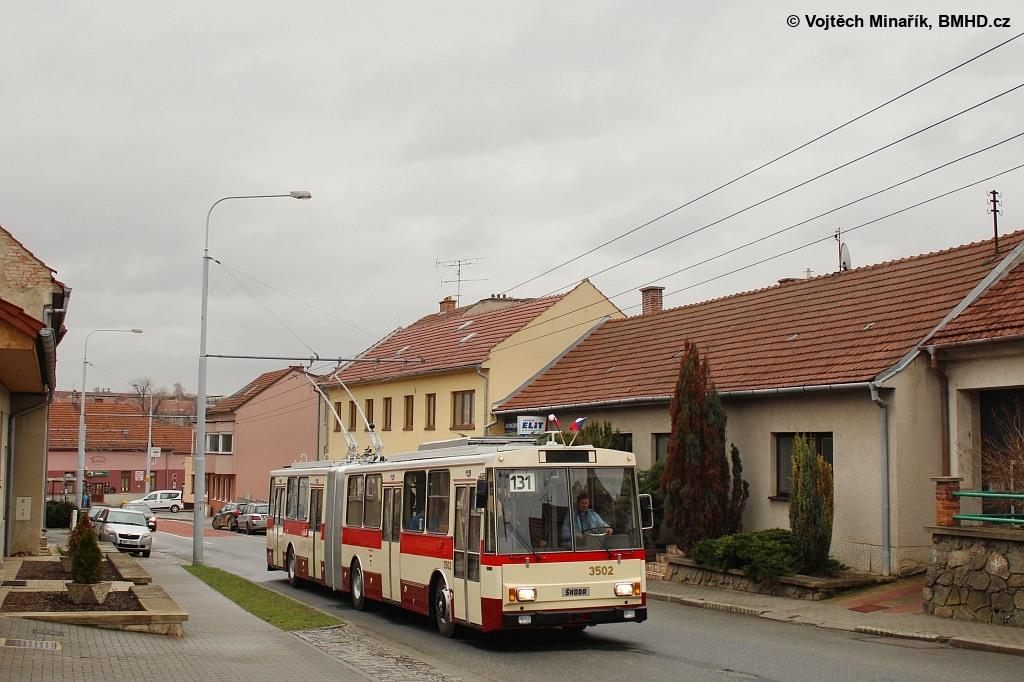 Fotogalerie » Škoda 15TrM 3502 | Šlapanice | Brněnská