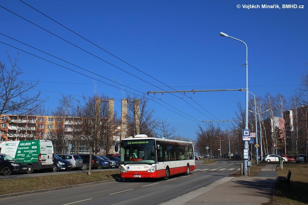 Fotogalerie » Irisbus Citelis 12M 6B6 6851 7657 | Brno | Slatina | Mikulčická
