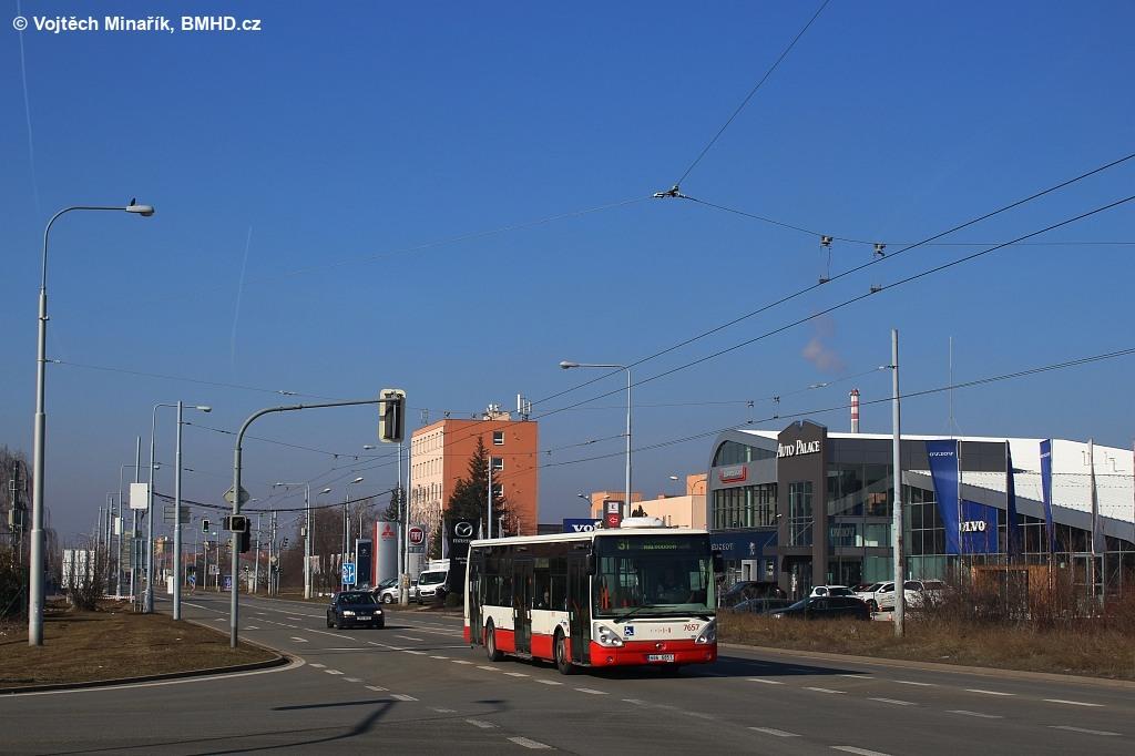 Fotogalerie » Irisbus Citelis 12M 6B6 6851 7657 | Brno | Slatina | Řípská