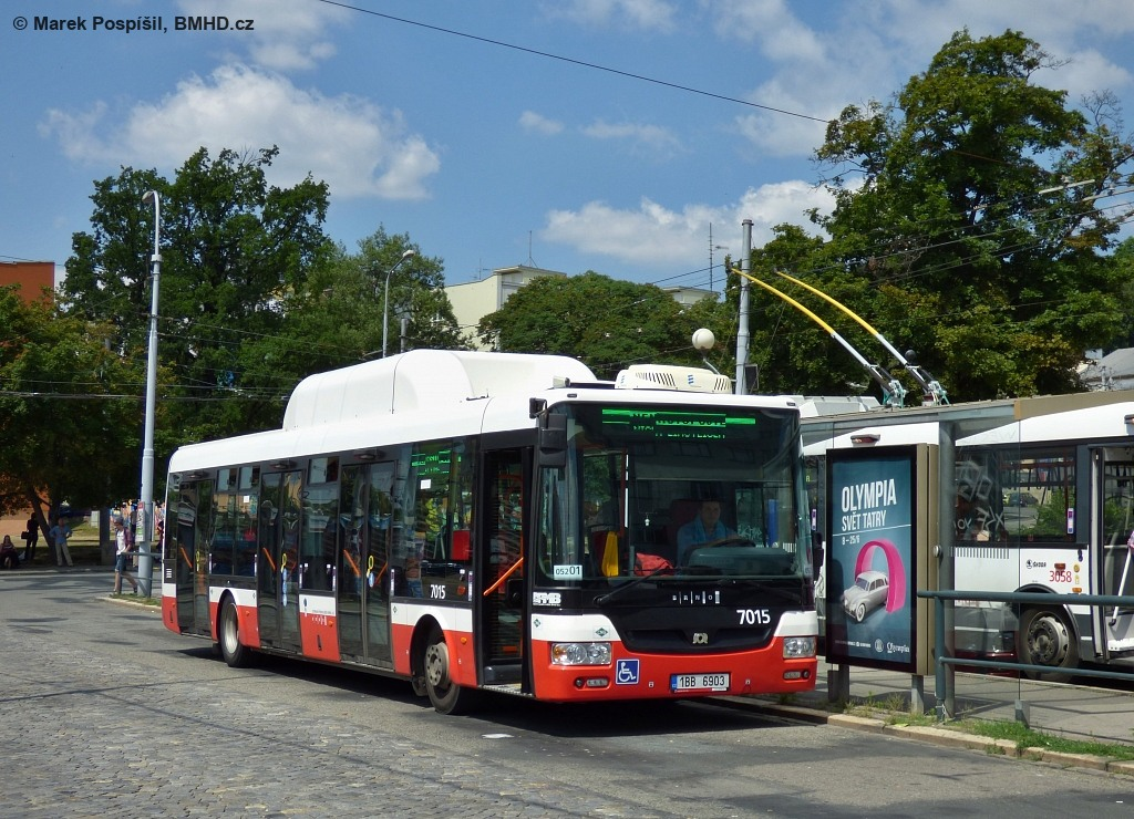 Fotogalerie » SOR NBG 12 1BB 6903 7015 | Brno | Staré Brno | Mendlovo náměstí | Mendlovo náměstí