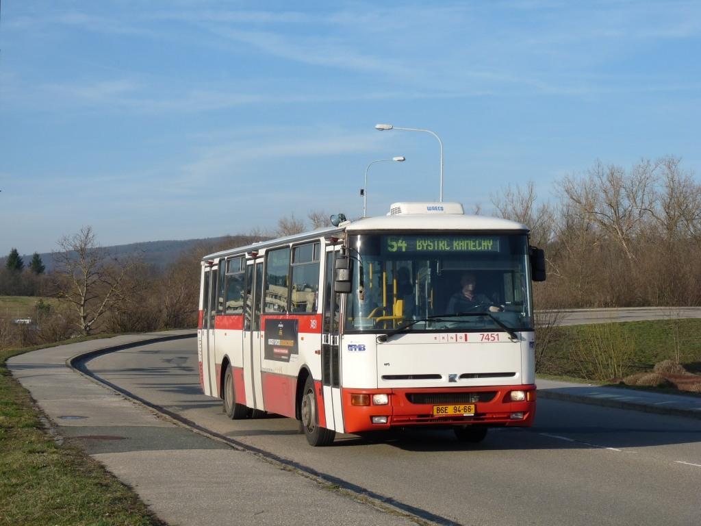 Fotogalerie » Karosa B931E.1707 BSE 94-66 7451 | Brno | Bystrc | Rakovecká