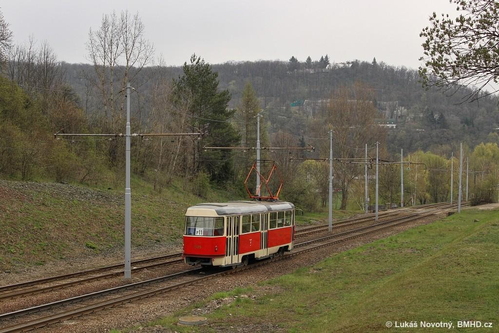 Fotogalerie » ČKD Tatra T3 1525   Brno   Bystrc