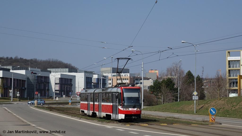 Fotogalerie » ČKD Tatra K2R03 1037 | Brno | Královo Pole | Purkyňova