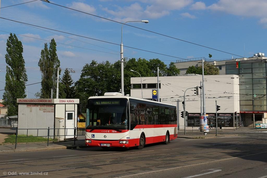 Fotogalerie » Irisbus Crossway LE 12M 7B3 3924 7814 | Brno | Královo Pole | Palackého třída