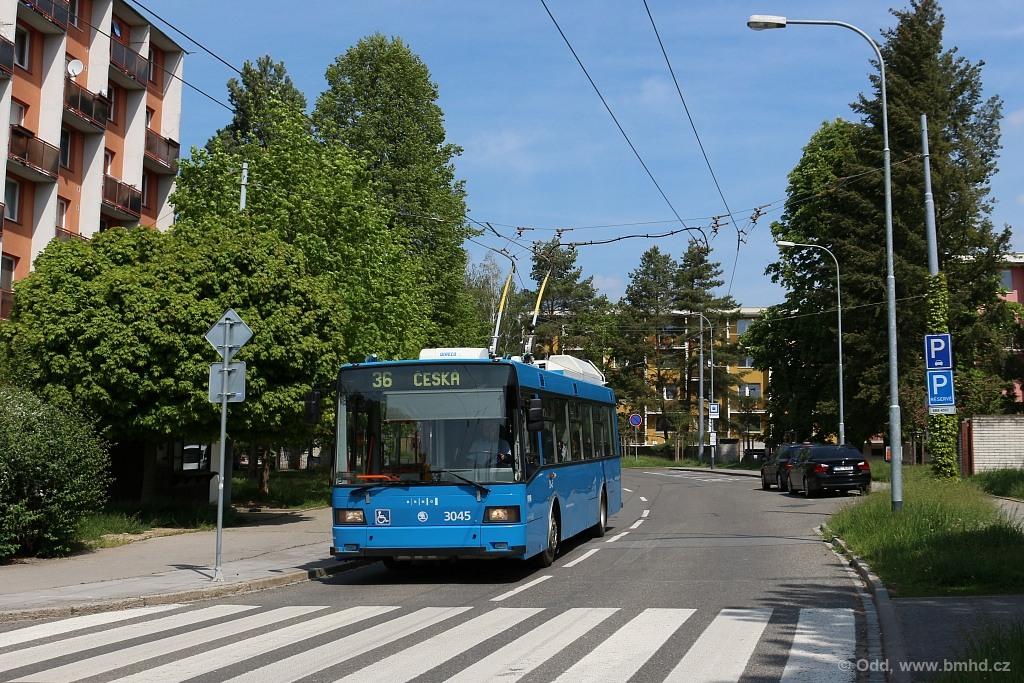 Fotogalerie » Škoda 21Tr 3045 | Brno | Komín | Řezáčova