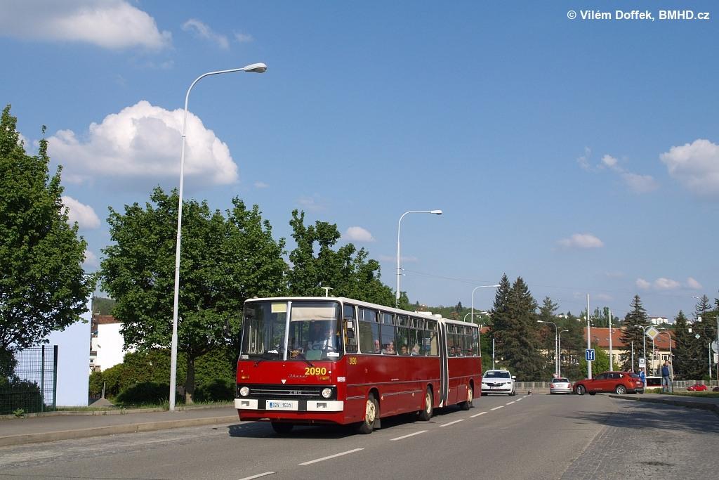 Fotogalerie » Ikarus 280.08 02V 1531 2090 | Brno | Medlánky | Hudcova