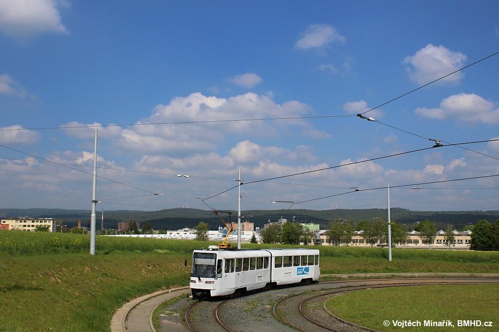 Fotogalerie » ČKD Tatra K2R03-P 1040   Brno   Medlánky   Purkyňova   Technologický park, smyčka