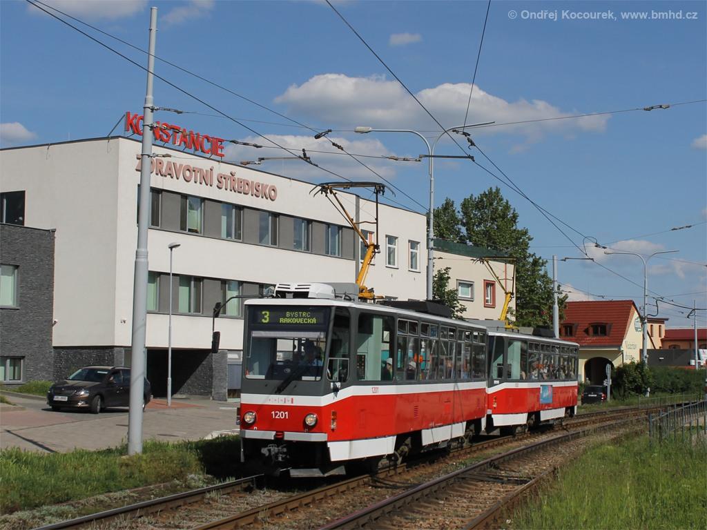 Fotogalerie » ČKD DS T6A5 1201 | ČKD DS T6A5 1202 | Brno | Komín | Kníničská