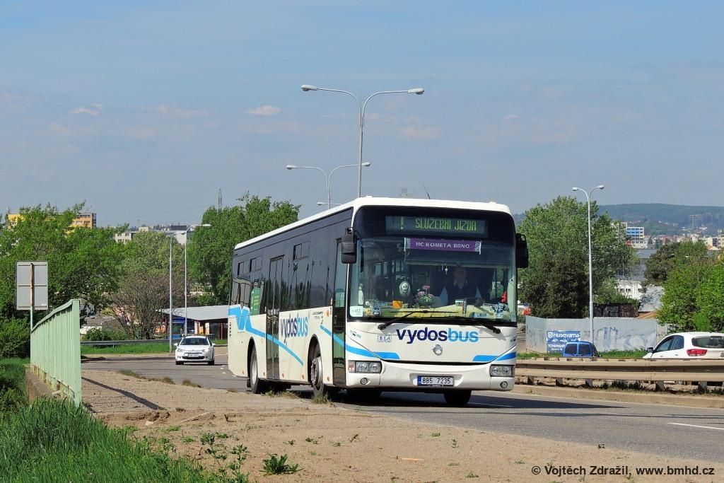 Fotogalerie » Irisbus Crossway LE 12M 8B5 7235 | Brno | Černovice | Černovická