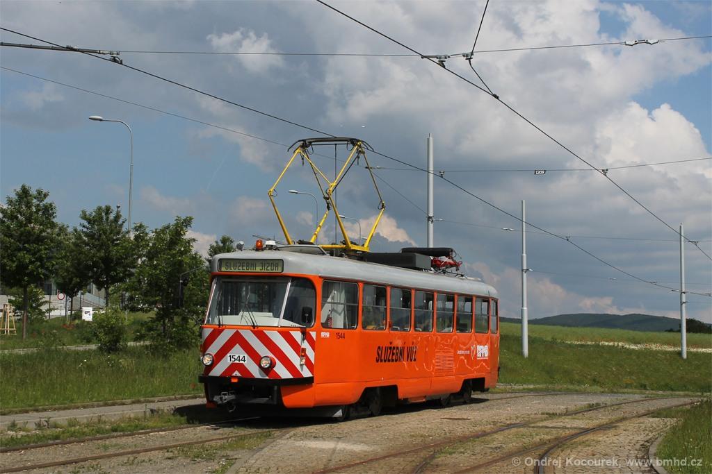 Fotogalerie » ČKD Tatra T3M 1544 | Brno | Královo Pole | Purkyňova