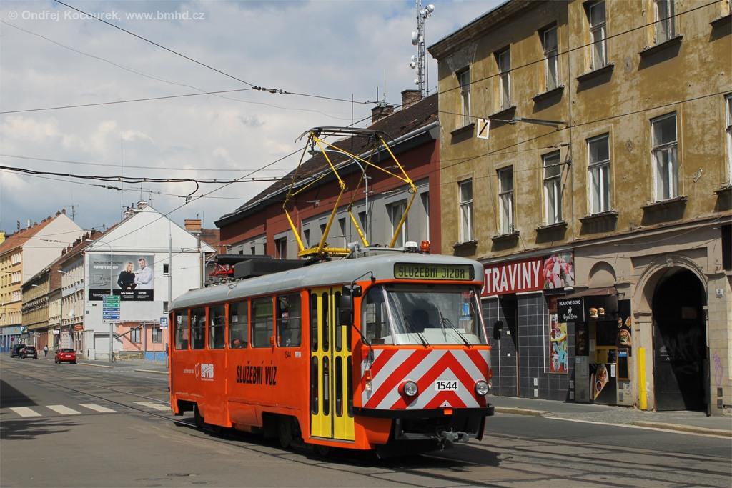 Fotogalerie » ČKD Tatra T3M 1544 | Brno | Staré Brno | Václavská