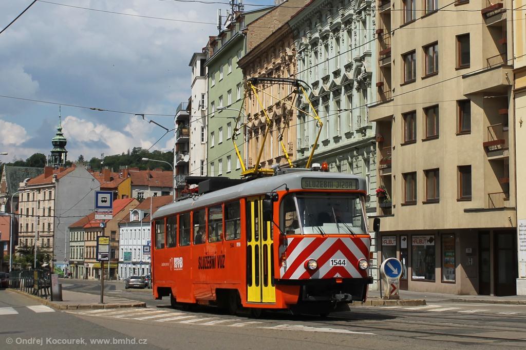 Fotogalerie » ČKD Tatra T3M 1544 | Brno | Staré Brno | Pekařská | Nemocnice u Svaté Anny
