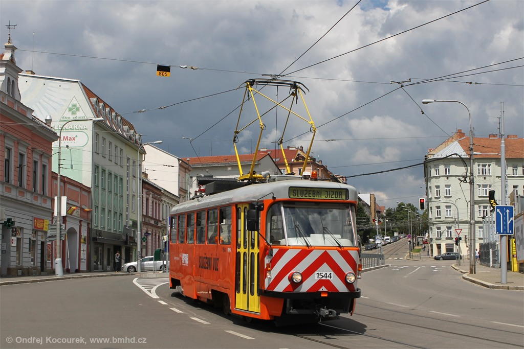 Fotogalerie » ČKD Tatra T3M 1544   Brno   Černá Pole   Jugoslávská