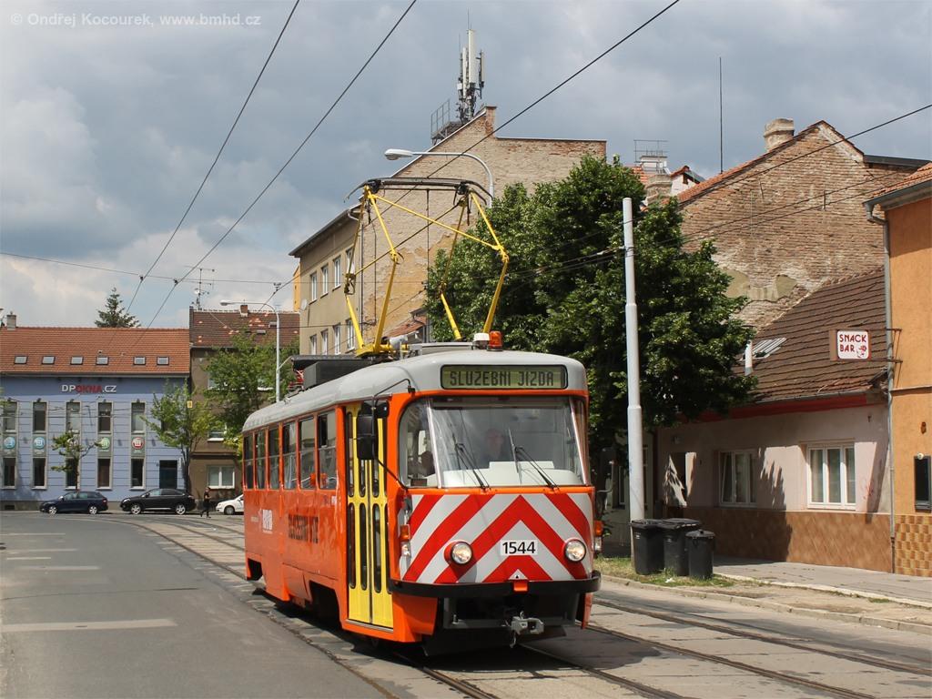 Fotogalerie » ČKD Tatra T3M 1544 | Brno | Husovice | Dačického
