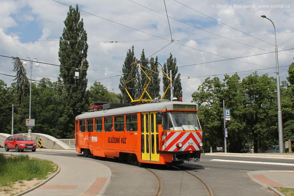 Fotogalerie » ČKD Tatra T3M 1544 | Brno | Maloměřice | Dolnopolní