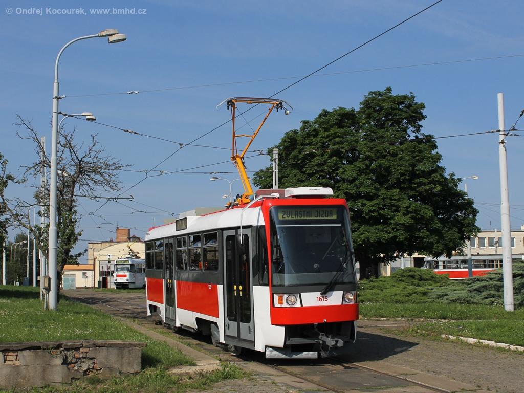 Fotogalerie » ČKD Tatra T3R 1615 | Brno | vozovna Medlánky