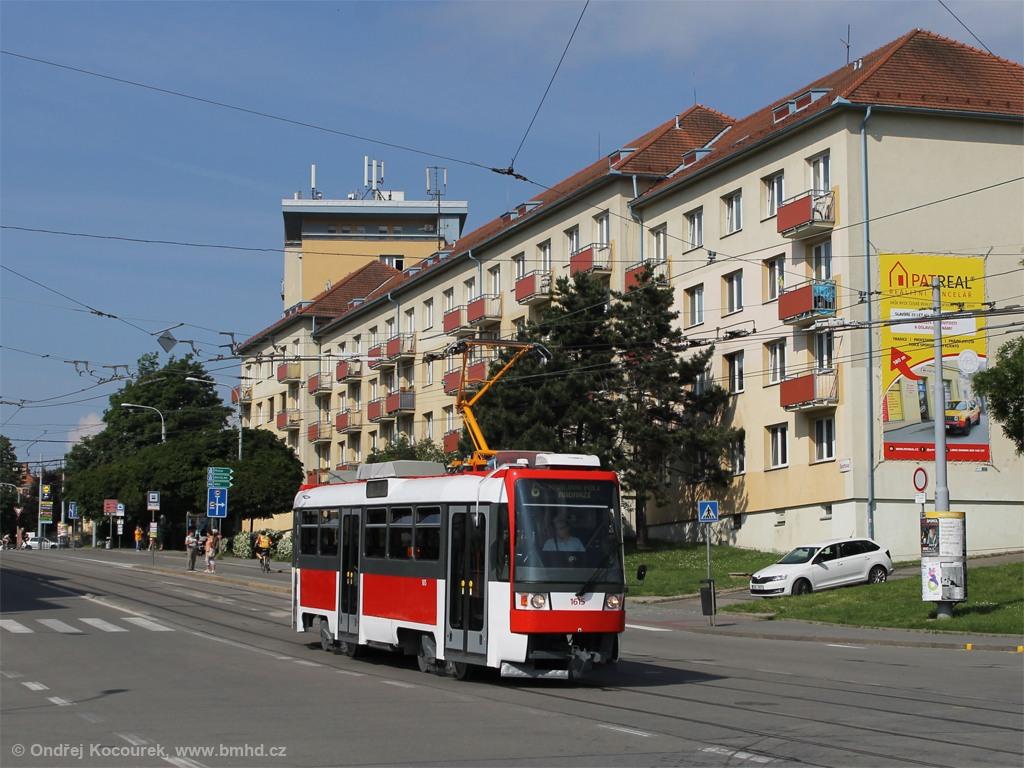 Fotogalerie » ČKD Tatra T3R 1615 | Brno | Královo Pole | Kosmova