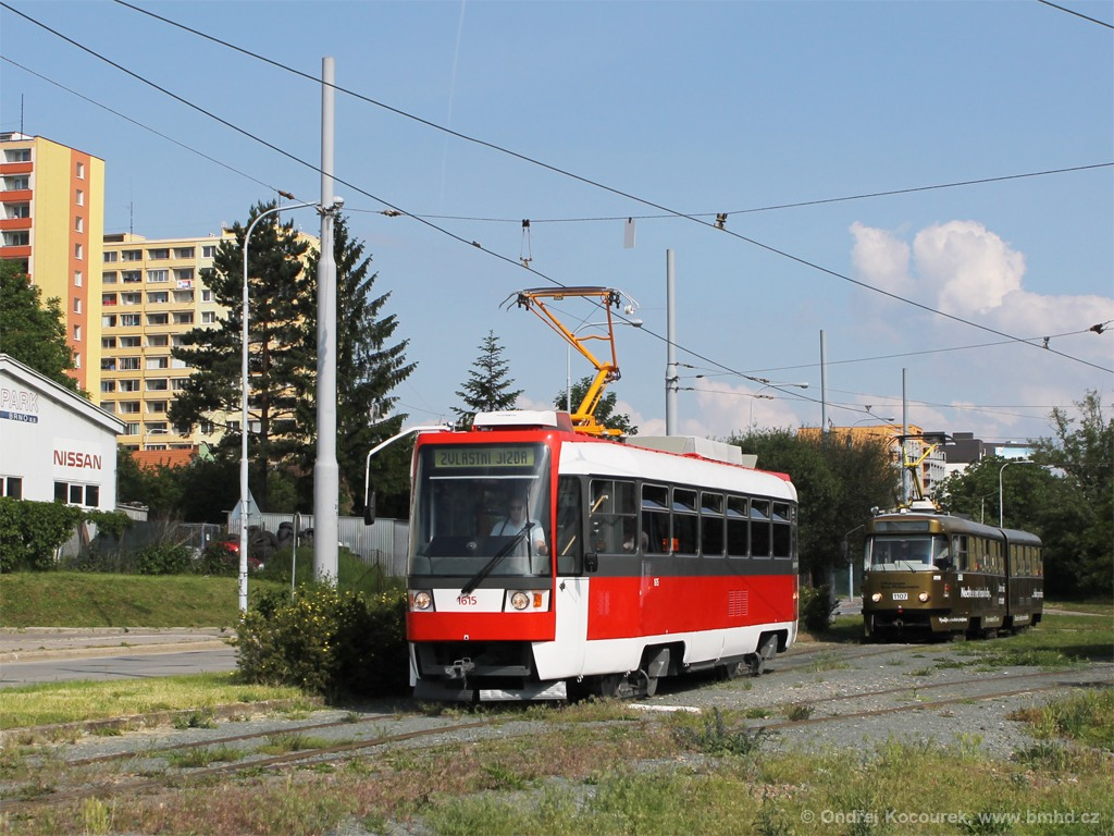 Fotogalerie » ČKD Tatra T3R 1615 | Brno | Královo Pole | Budovcova