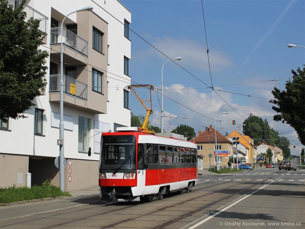 Fotogalerie » ČKD Tatra T3R 1615 | Brno | Řečkovice | Banskobystrická