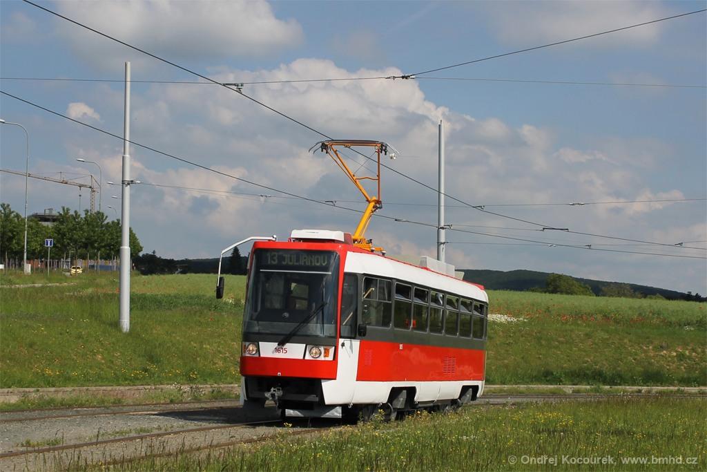 Fotogalerie » ČKD Tatra T3R 1615 | Brno | Královo Pole | Purkyňova
