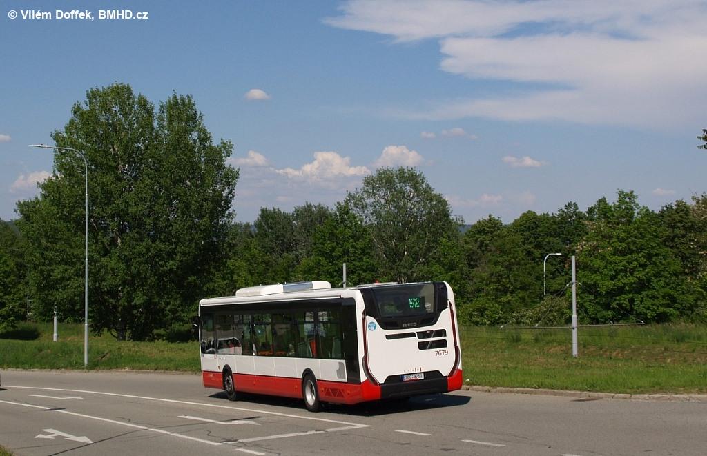 Fotogalerie » Iveco Urbanway 12M 2BC 9750 7679 | Brno | Bystrc | Štouračova | Adamcova