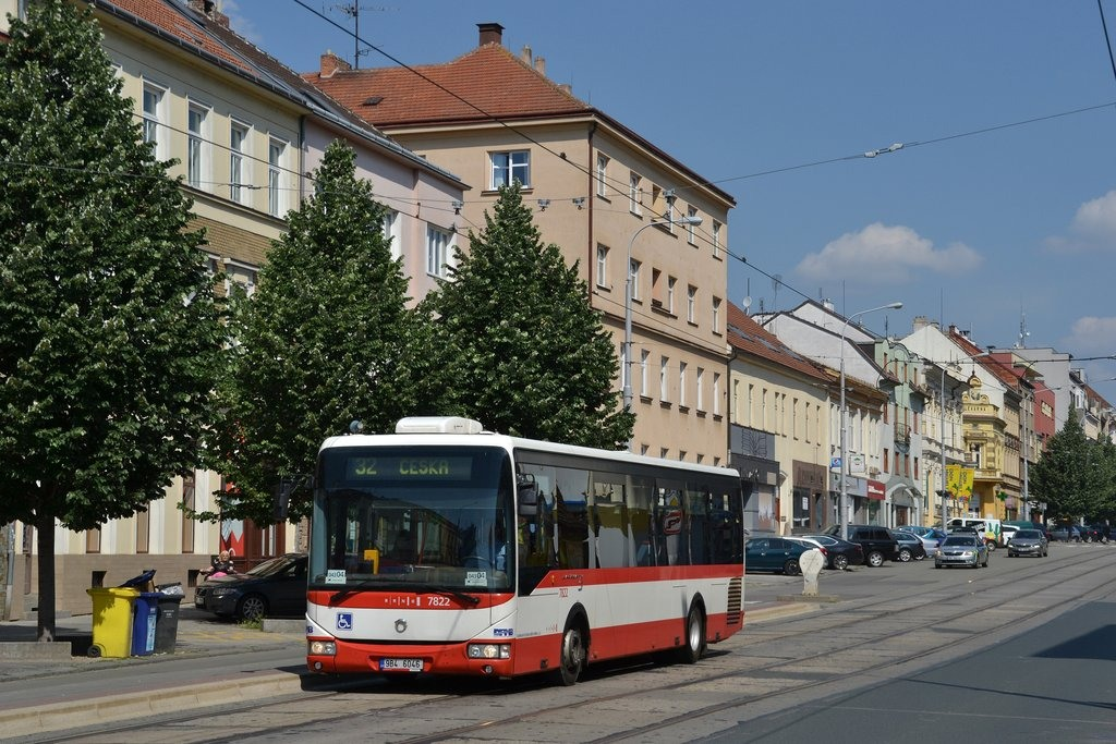 Fotogalerie » Irisbus Crossway LE 12M 9B4 6046 7822 | Brno | Královo Pole | Palackého třída | Jungmannova