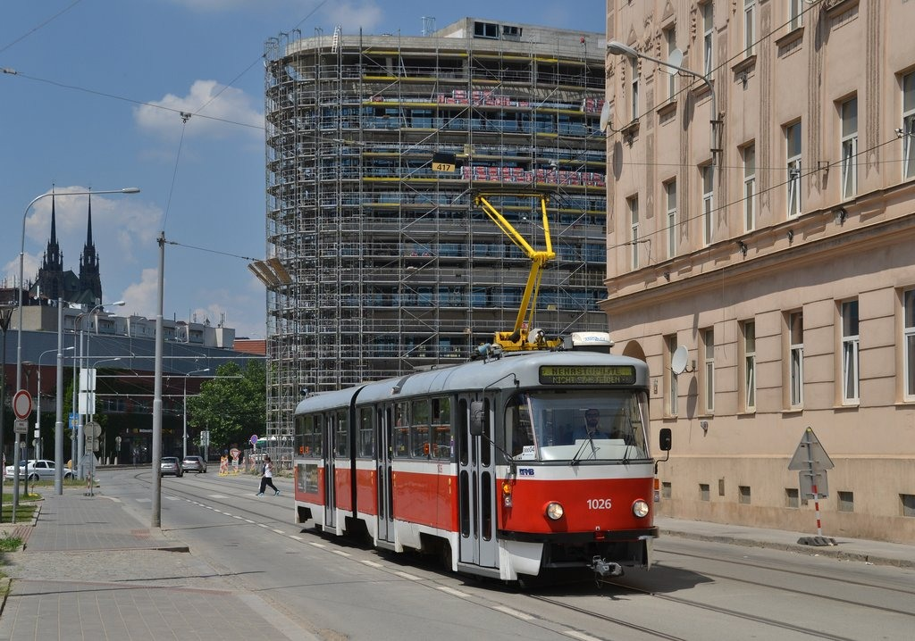 Fotogalerie » ČKD Tatra K2P 1026 | Brno | Trnitá | Dornych
