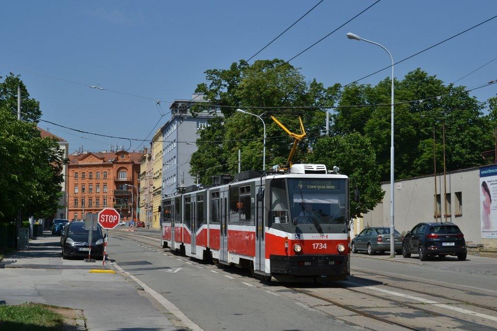 Fotogalerie » ČKD Tatra KT8D5N 1734 | Brno | střed | Údolní