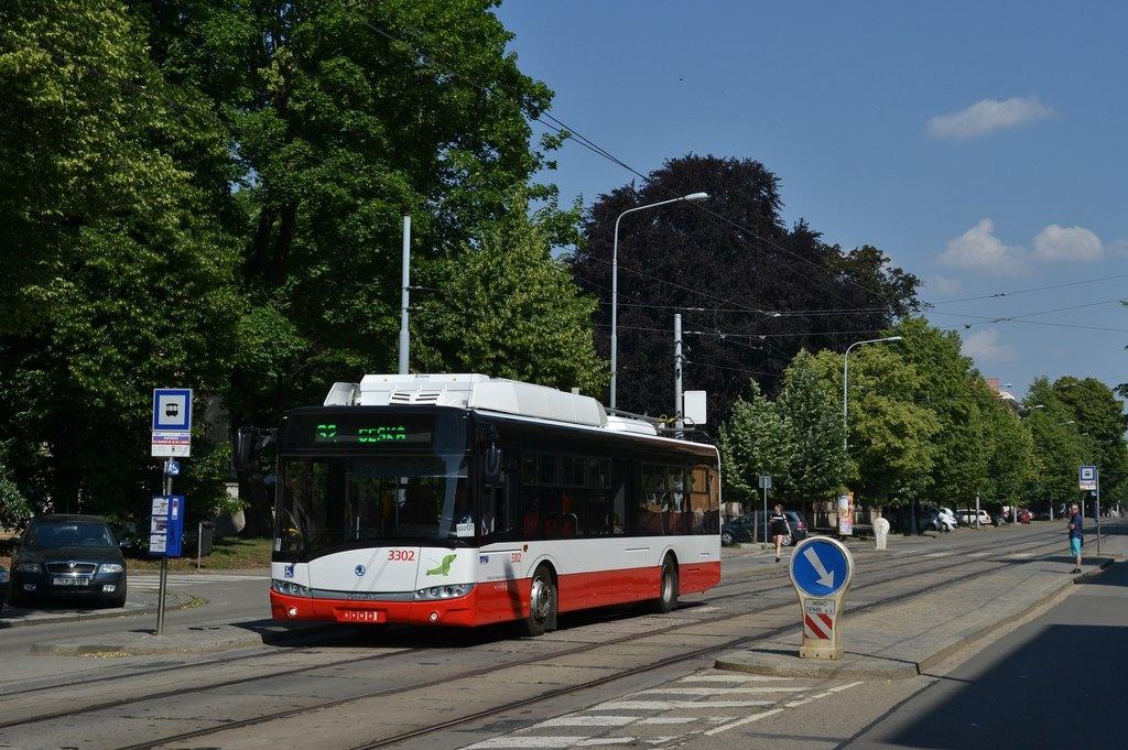Fotogalerie » Škoda 26Tr 3302 | Brno | Královo Pole | Palackého třída | Kartouzská