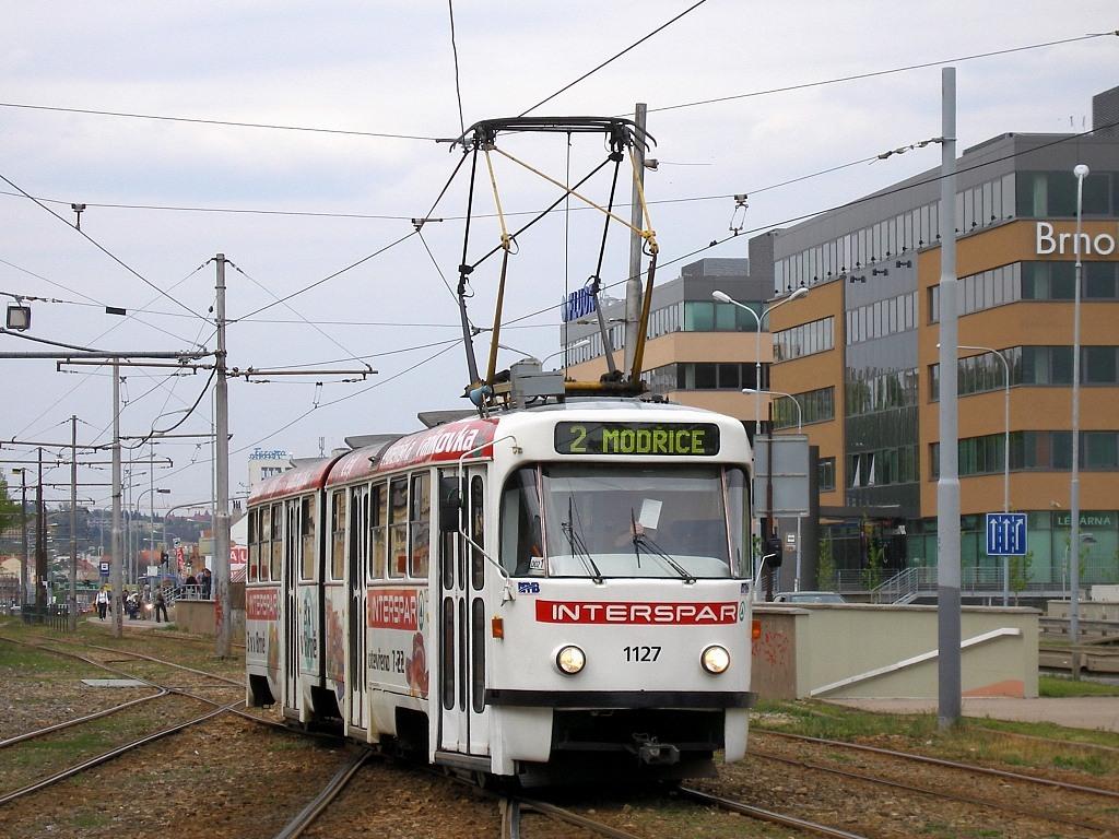 Fotogalerie » ČKD Tatra K2 1127 | Brno | Štýřice | Vídeňská