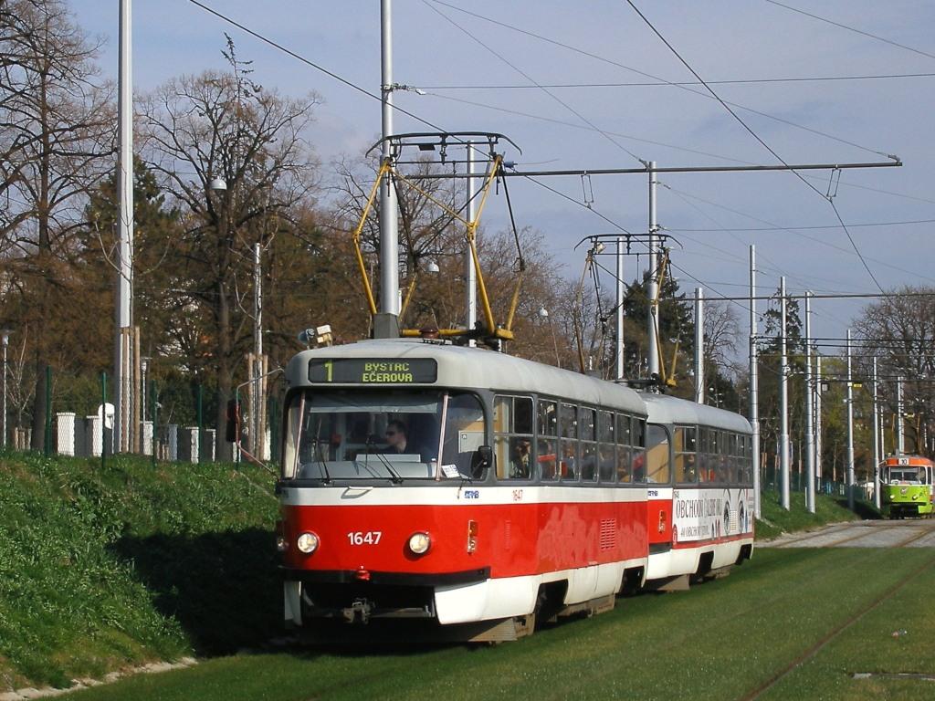 Fotogalerie » ČKD Tatra T3G 1647 | ČKD Tatra T3G 1648 | Brno | Pisárky | Hlinky