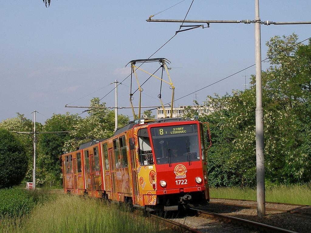 Fotogalerie » ČKD Tatra KT8D5 1722 | Brno | Štýřice